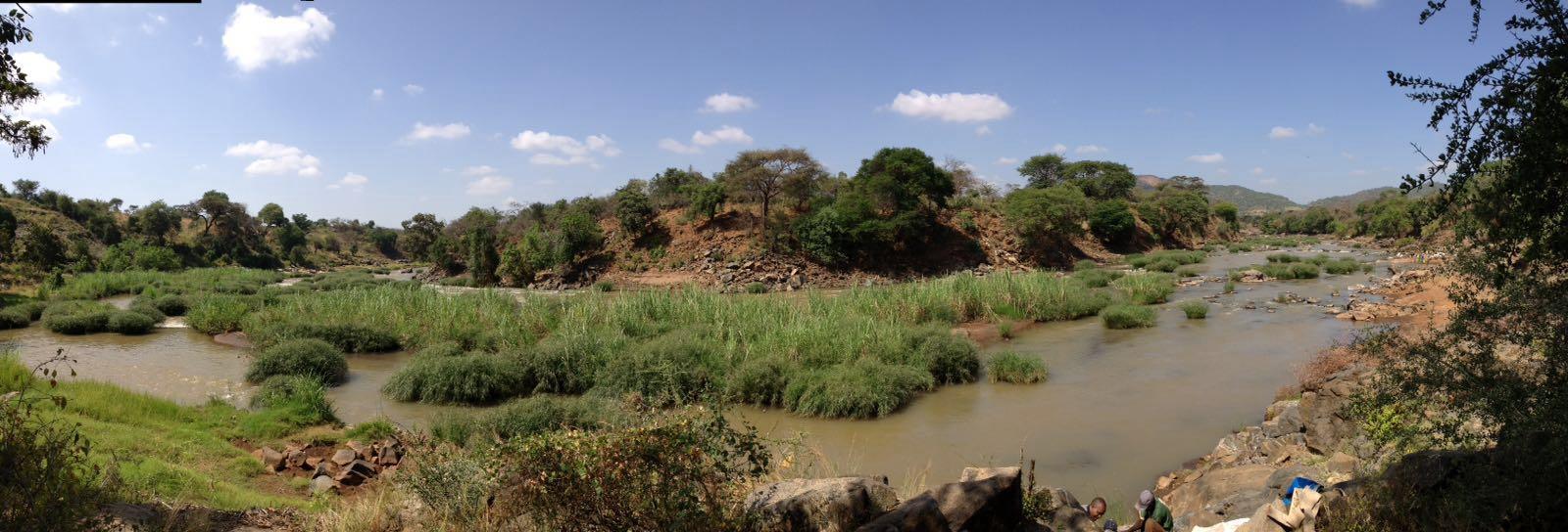 de rivier waaruit het water wordt gepompt